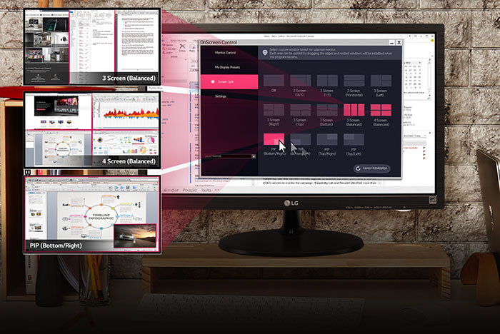 LG-20MP38HP-Monitor-Customize Your Workspace for Multitasking